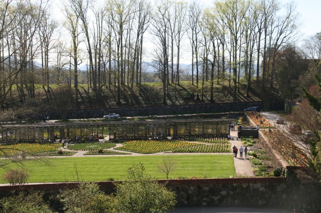 Long View of Walled Garden Biltmore