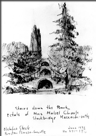 Concept Drawing of the Blue Steps